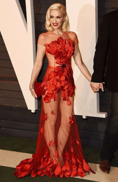 See through Dress Red
