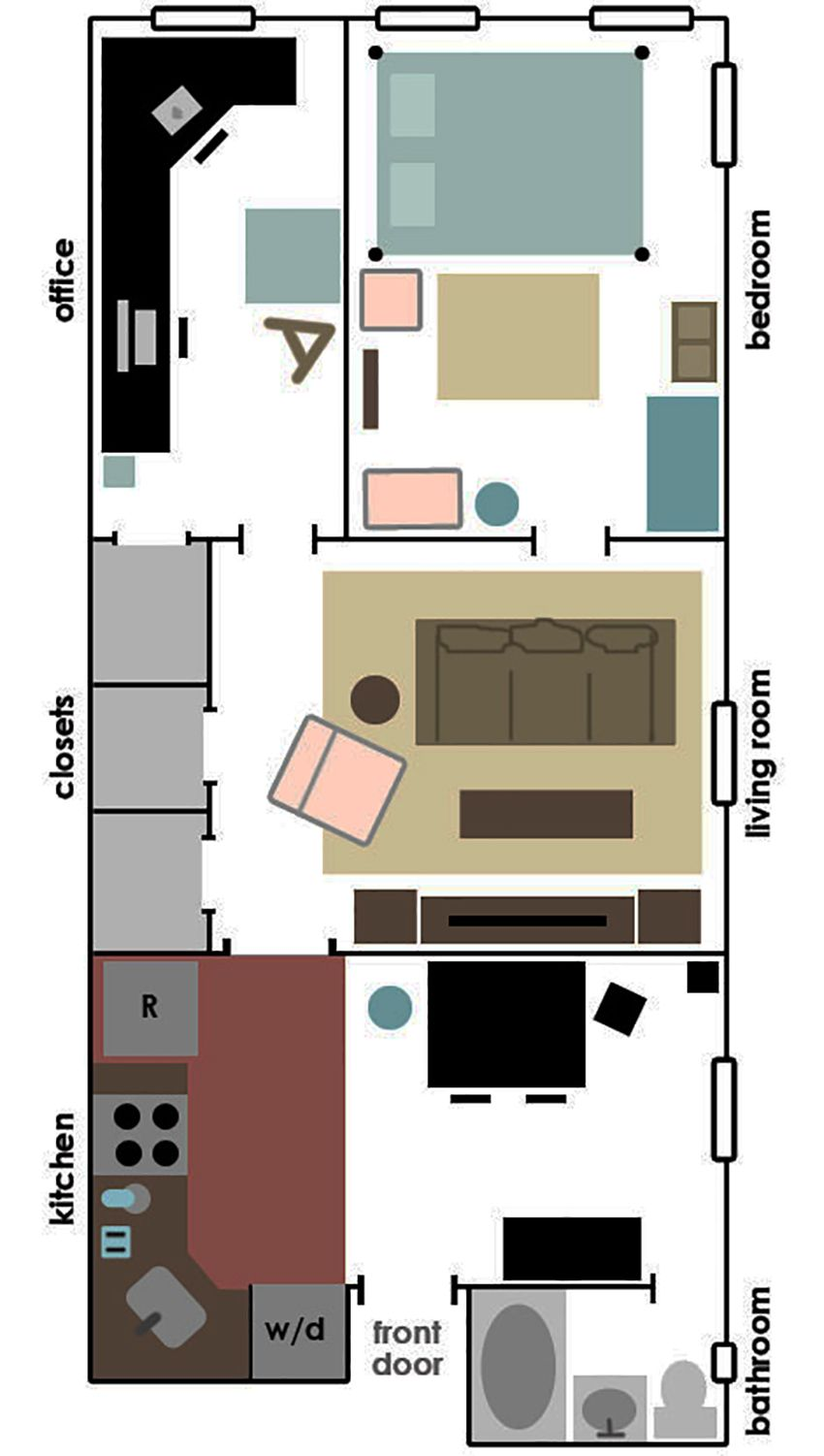 Apartment furniture layout planner home design and decor for Studio apartment furniture arrangement