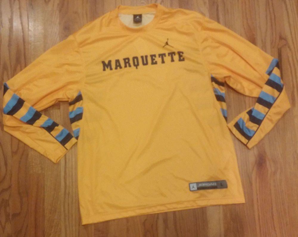 Nike Jordan Jumpman Marquette Basketball Long Sleeve Large XL Shooters Shirt … 1be4f0e5f