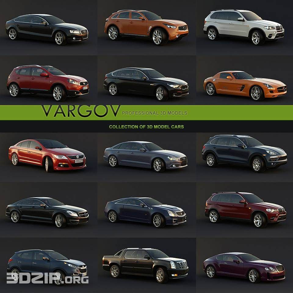 Car 3d Models 2 Free Download Car 3d Model Car Model Car