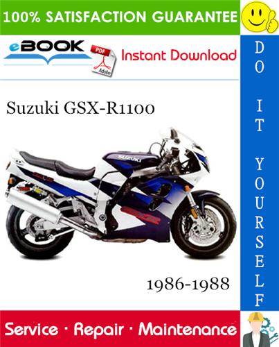Suzuki Gsx R1100 Motorcycle Service Repair Manual 1986 1988 Download