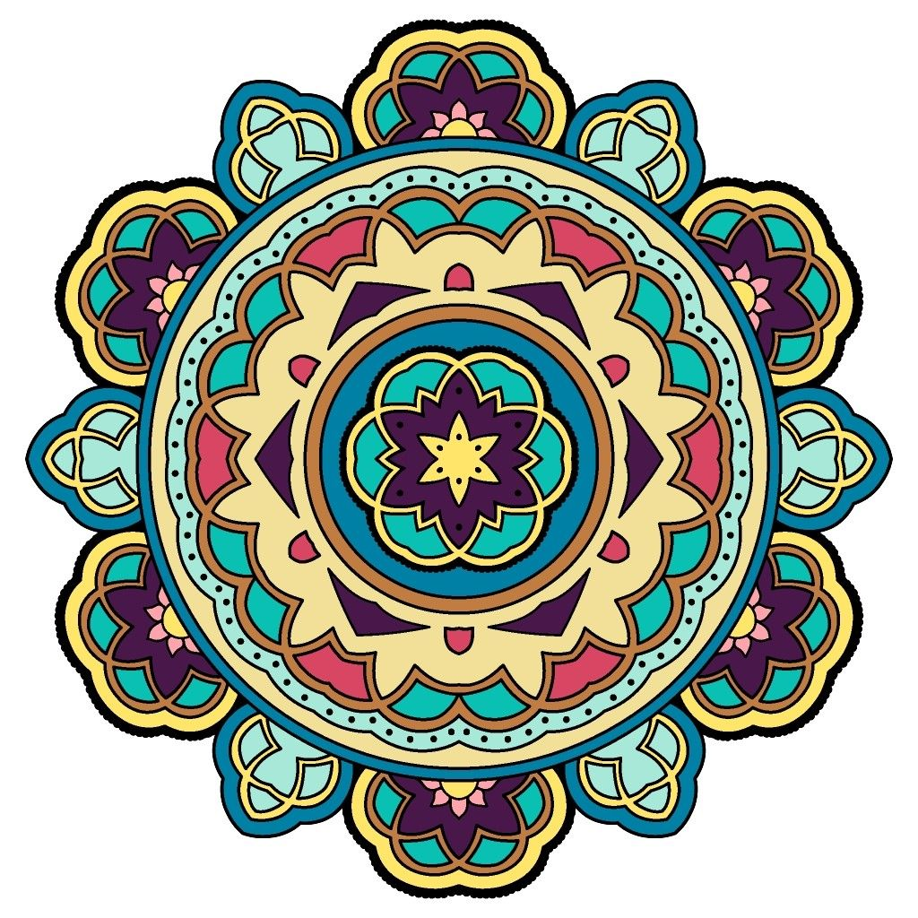 Pin By Karen Balderstone On Color By Numbers Coloring Books Coloring Pages Mandala