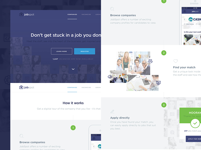 JobSpot Redesign by Chris Braniff