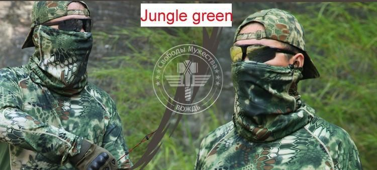 Tactical Multi-purpose Camouflage Hunting Headband Bandanas Wrap Outdoor Airsoft Headwear Scarf Face Mask
