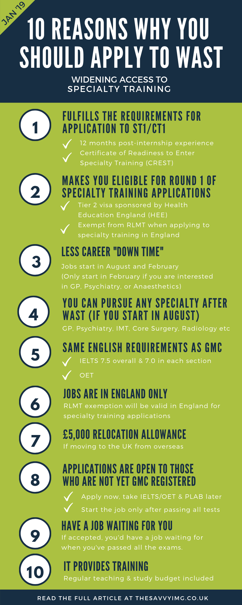 10 Reasons To Apply For The Widening Access To Specialty Training