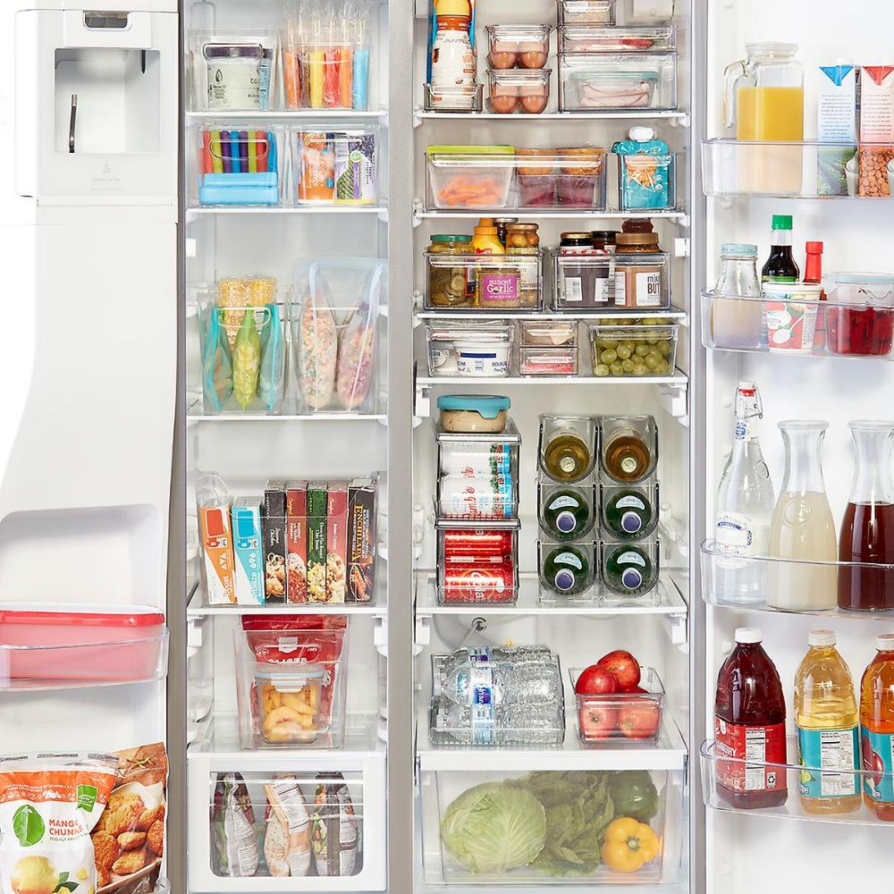 Idesign Linus Divided Freezer Bins Kitchen Organization Pantry
