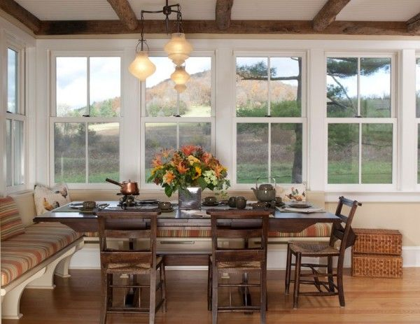Oversize Kitchens: How To Include Comfortable Dining Space, I Love Banquet  Style Seating Areas
