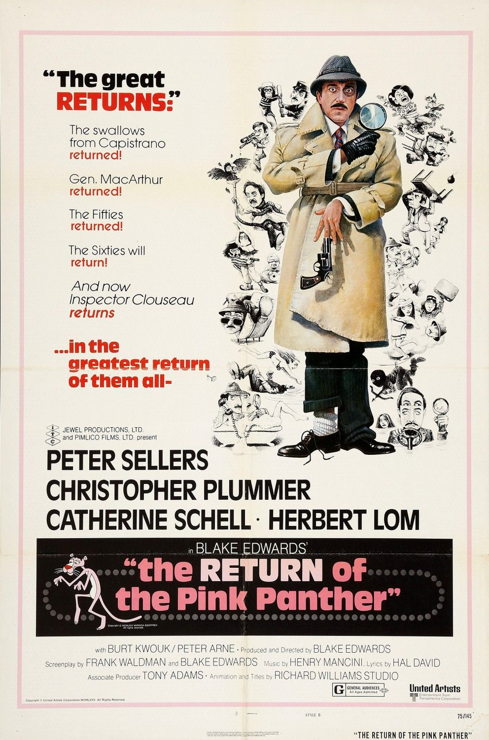 The Return Of The Pink Panther Extra Large Movie Poster Image Internet Movie Poster Awards Gallery Best Movie Posters Pink Panthers Movie Posters