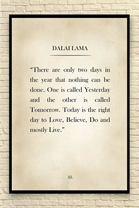 Dalai Lama Print Dalai Lama Quote Custom Art Print Book