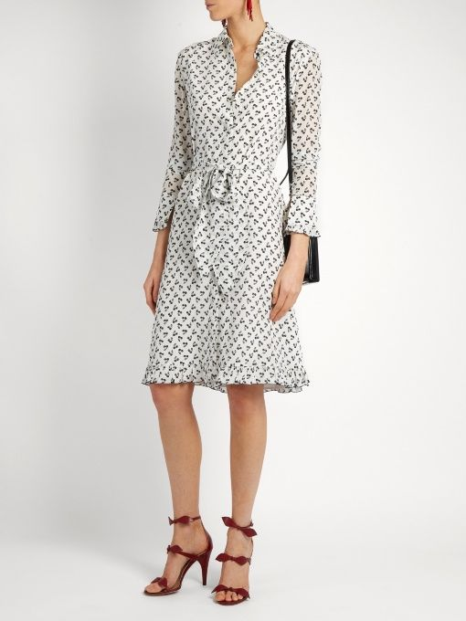 Altuzarra Laguna cherry-print silk dress