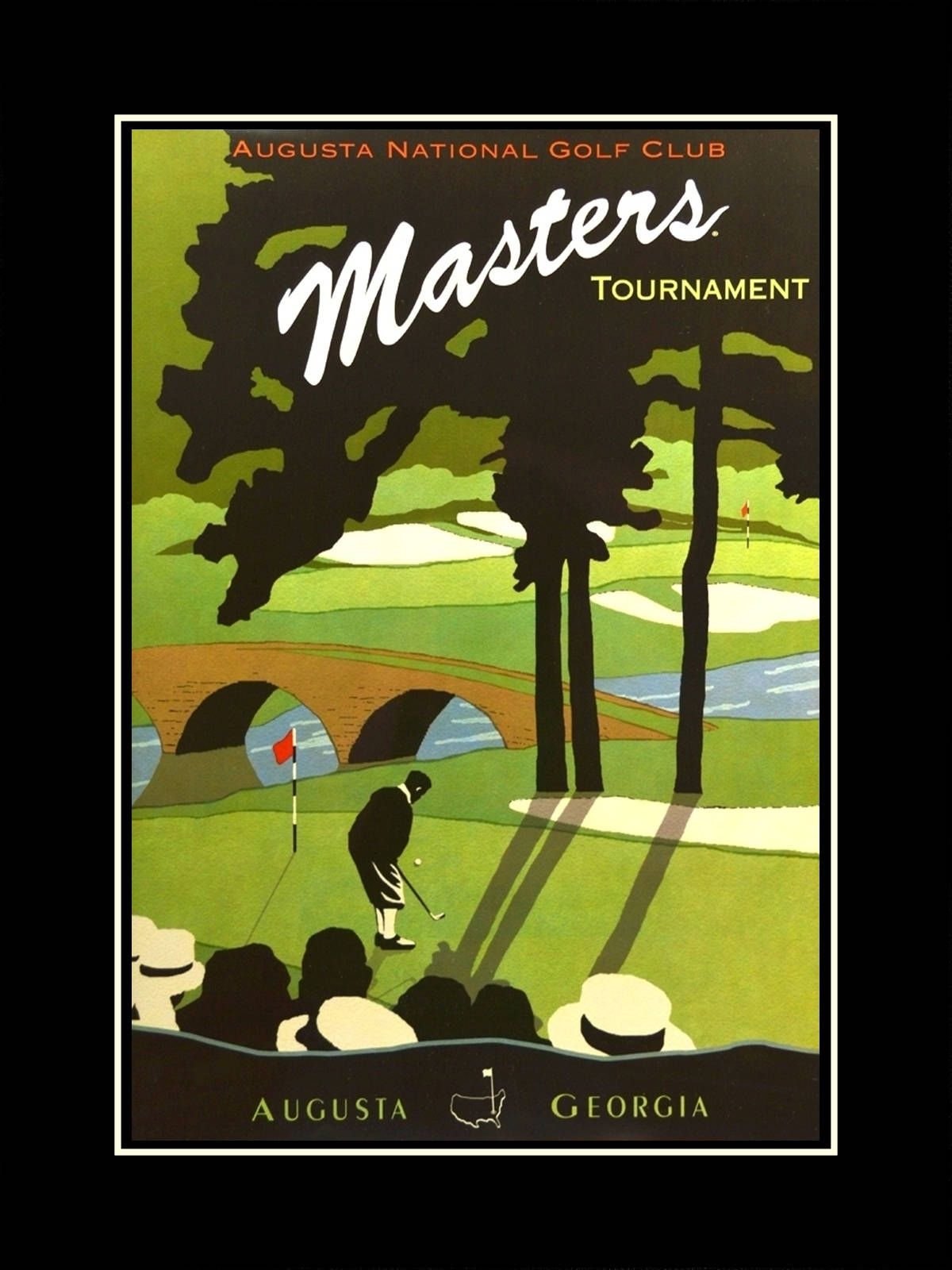 Vintage Golf Illustration Wall Art Poster Mens Drawing Art Print Gift Augusta National Wall Decor Masters Tournament 8x Golf Poster Golf Clubs Golf Art