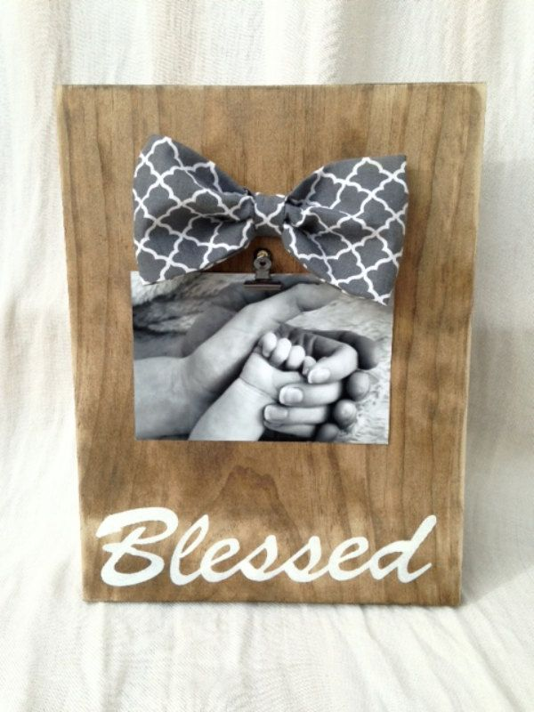 Wood Picture Holder, Rustic Picture Frame, Blessed, rustic home decor, 4 x 6 photo holder, distressed frame by Justasmalltowngirlx2 on Etsy