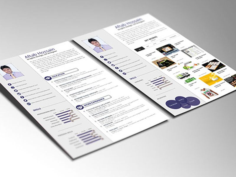 Free Simple 2 Pages Resume Template for Personal Use