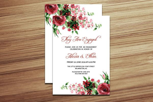 10+ Engagement Invitation Templates Free Printable PDF Formats
