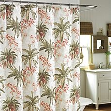 Tommy Bahama Bonny Cove 72 Fabric Shower Curtains Tree Shower