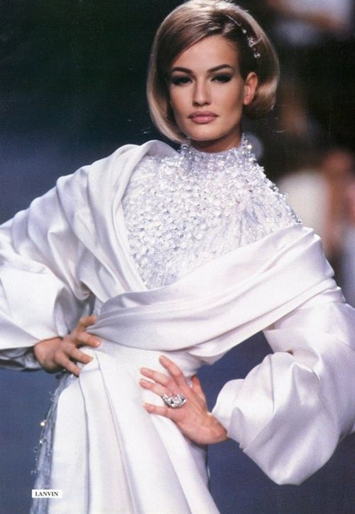 Lanvin, early 90s Model : Karen Mulder | Women's Fashion ...