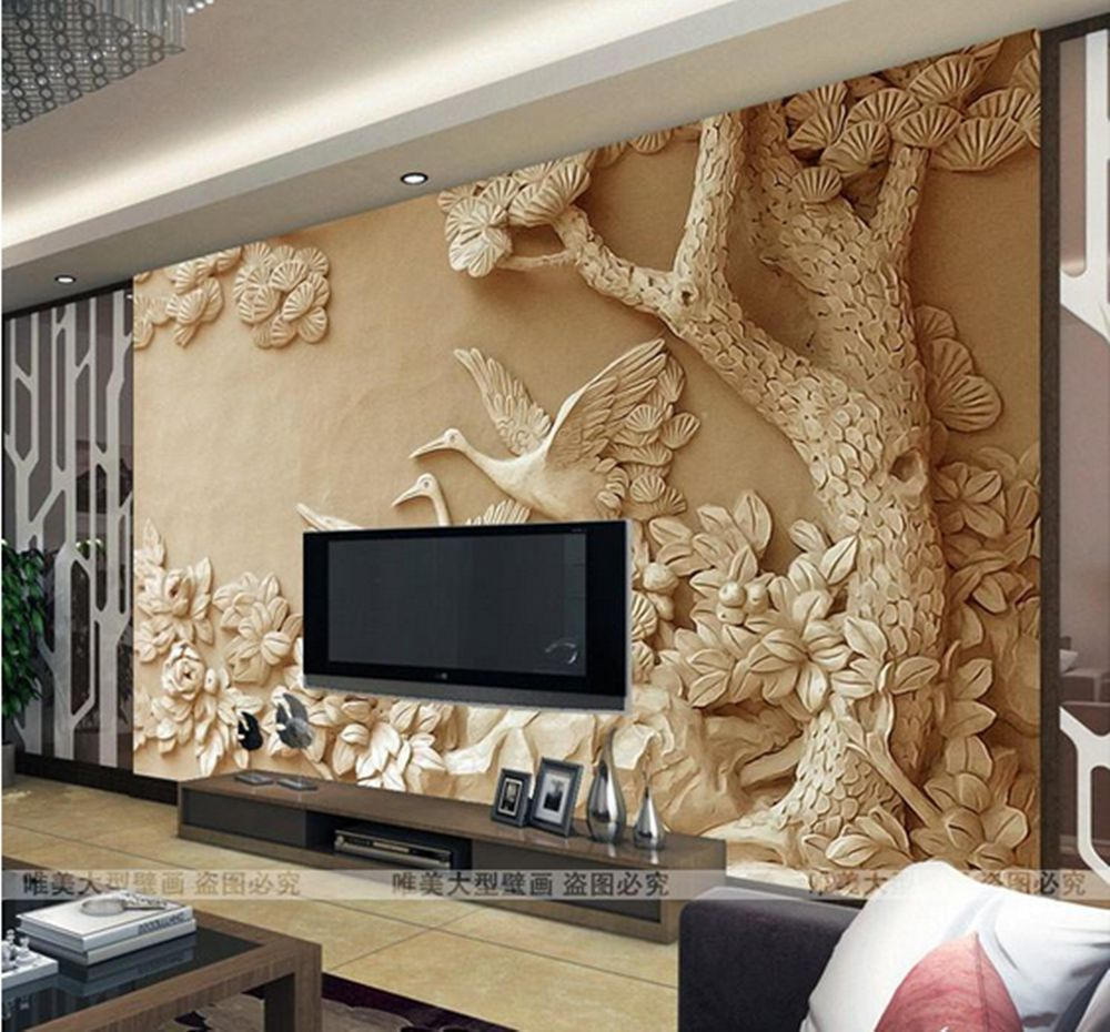 3d wallpaper bedroom mural roll modern luxury embossed for Images of 3d wallpaper for bedroom