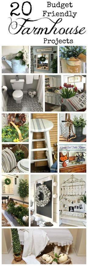 Budget Friendly Farmhouse Projects The farm and country living community is very resourceful. It's all about making the most with what you have. Use it up and wear it out or just like Grandma would say, waste not, want not. Here are 20 salvaged or budget friendly farmhouse projects that make the most of items you may already have. These are reuse,