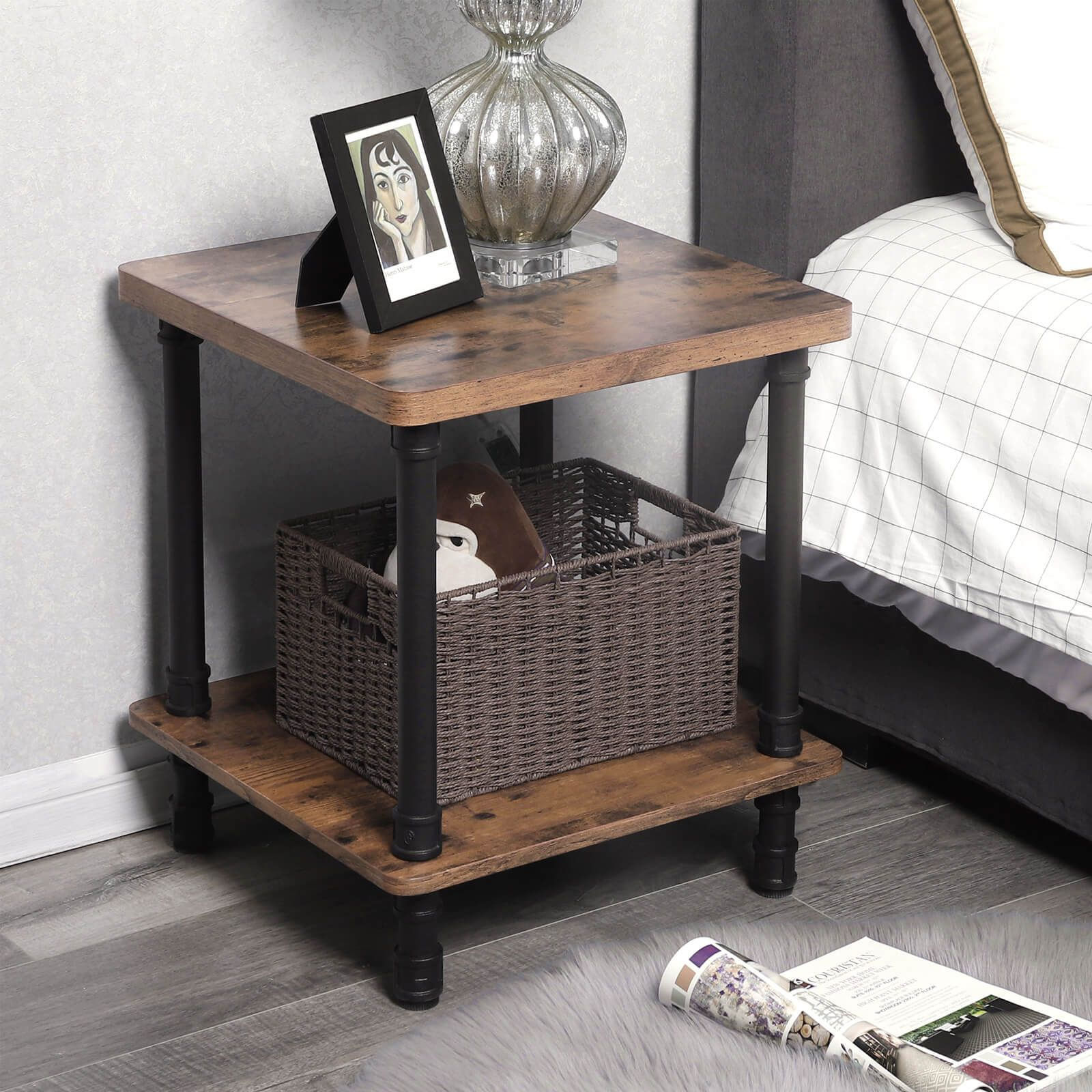 Industrial Side Table Side Table In 2020 Table Decor Living Room Industrial Side Table Side Table Decor