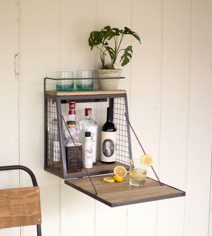 Fold Down Wall Bar Cabinet Wall Bar Diy Home Bar Wall Bar Cabinet
