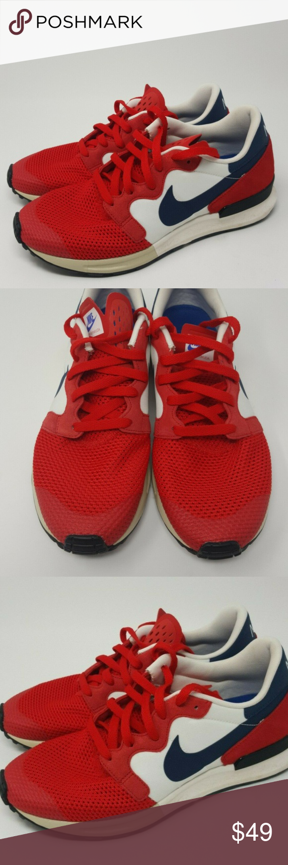 Nike Air Berwuda Red Retro Running Shoes Sz 10 Retro Running Shoes Nike Nike Air