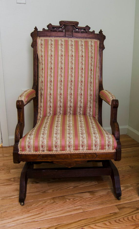 Antique Victorian Eastlake Platform Rocker By