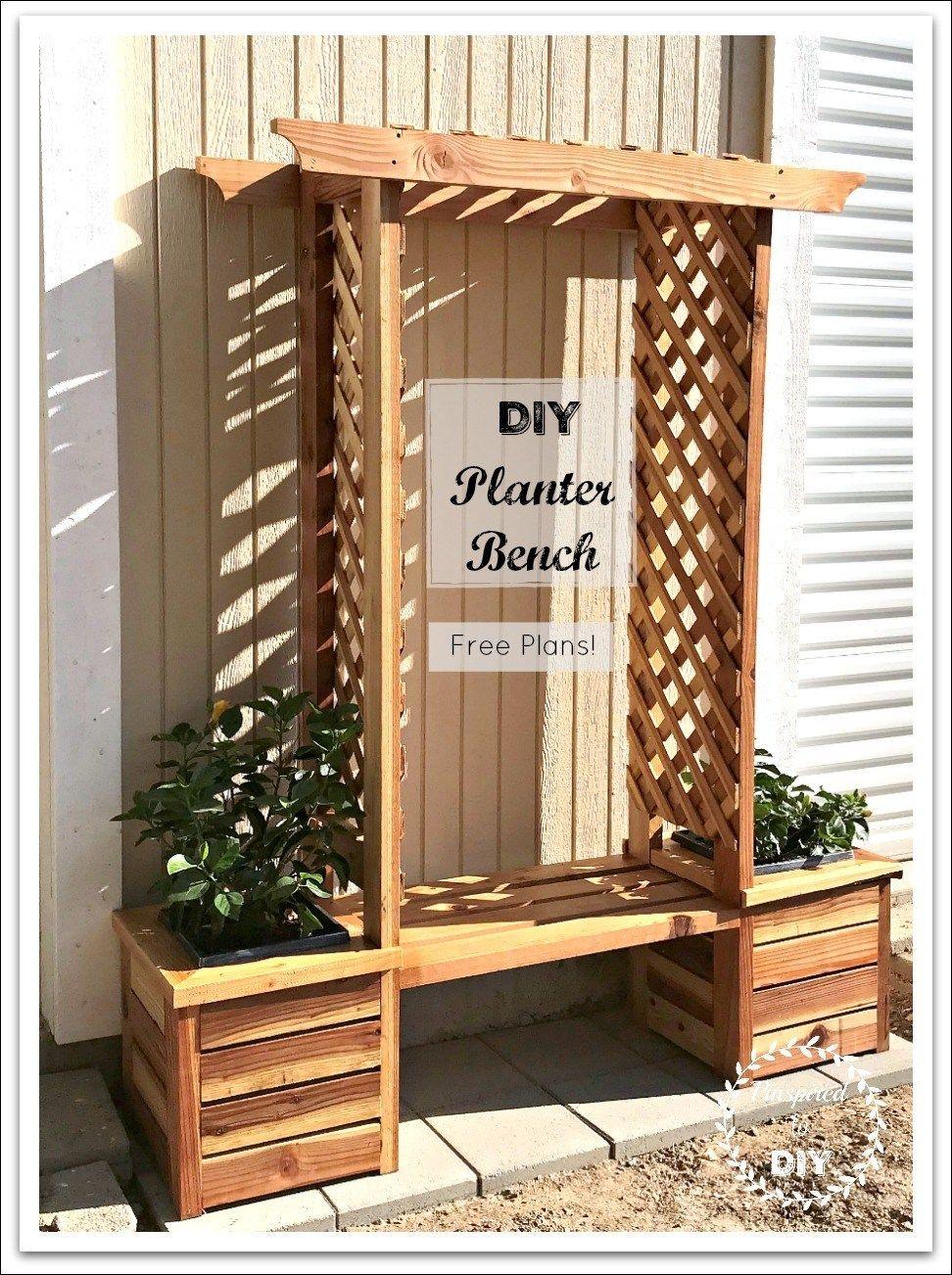 Diy Planter Box Bench Seat Free Building Plans Diy Planters Planter Boxes Diy Planter Box