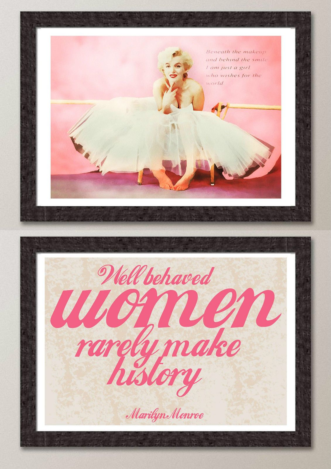 Marilyn Monroe Stuff For Bedroom 2 Vintage Pink Marilyn Monroe Pop Art Modern Print Poster Wall