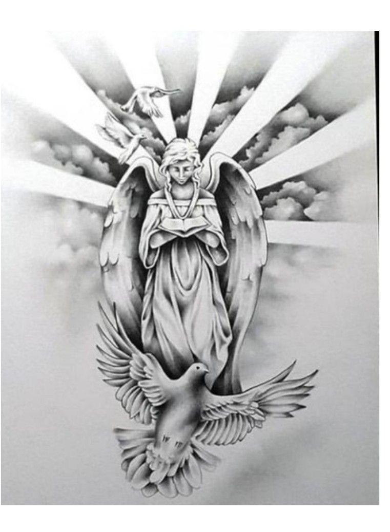 Tattoos vorlagen engel Engel Zeichnen