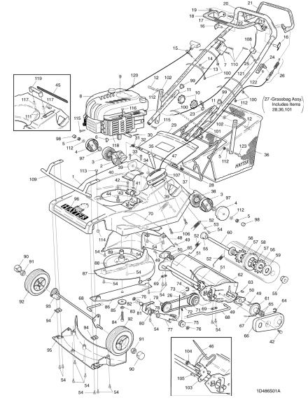 Hayter Harrier 48 486S001001 SPARES ORDERING DIAGRAMS