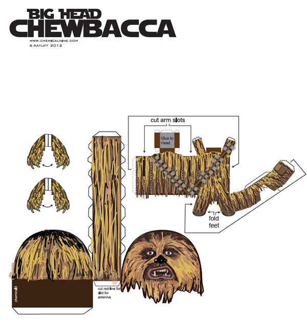 how to make a origami chewbacca