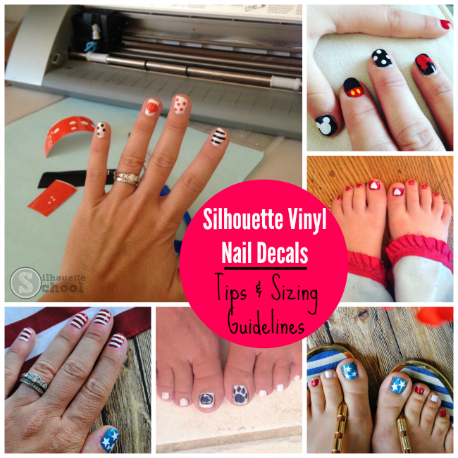 Vinyl Nail Decals Sizing Tips with Silhouette CAMEO | Cutting ...
