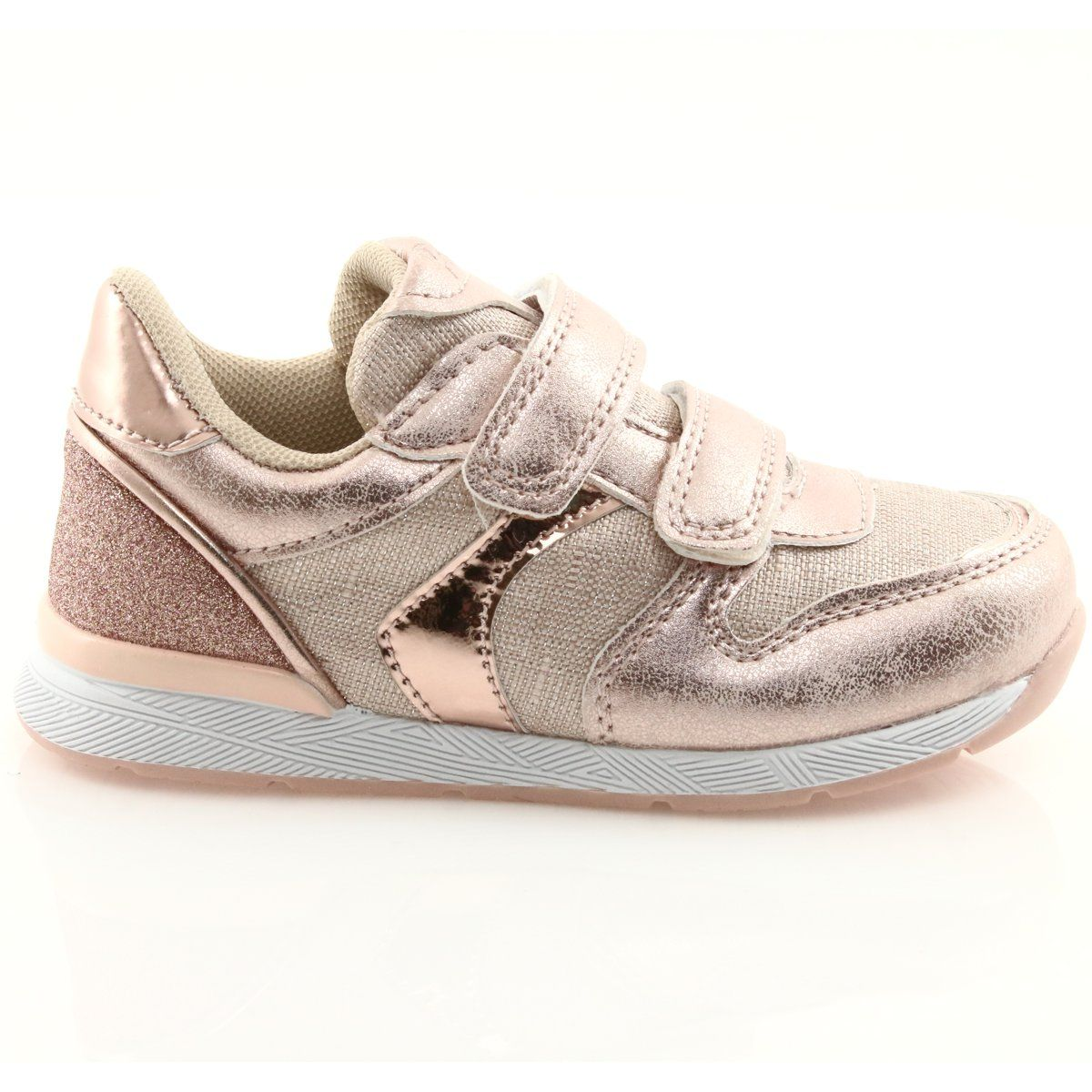 Rozowe Trampki American Club Es25 Gold Zolte Pink Sneakers Kid Shoes Sneakers