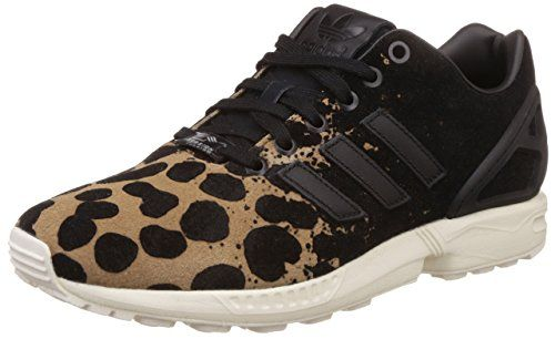 big sale 67f85 2cbc3 Adidas Originals Women Flux Leopard Fashion Sneaker Shoes Black