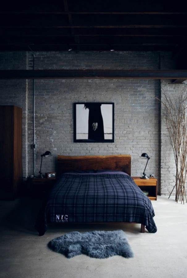 Bedrooms  Contemporary Mens Bedroom Ideas Solid Oak Closet Brick Wall   Minimal Mens Bedroom. 22 Great Bedroom Decor Ideas for Men   Runners  Artworks and