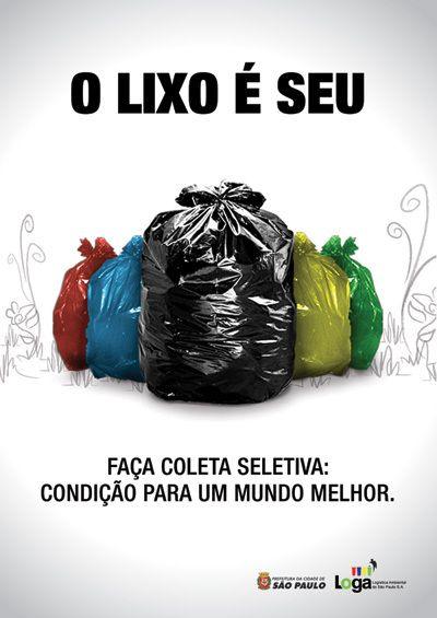 Cartaz Sobre Reciclagem E Lixo Educação Pinterest Environment