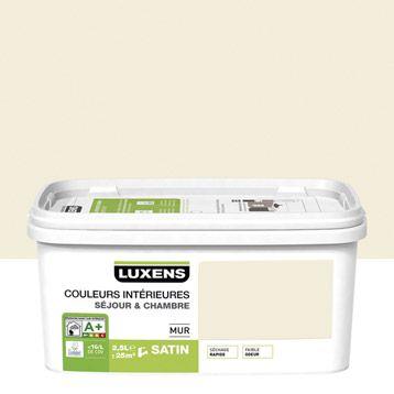 Peinture mur Couleurs intérieures LUXENS, blanc ivoire n°3 ...