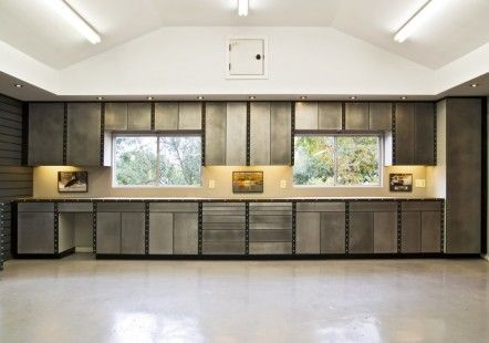 Treat Your Car With Outstanding Garage Interior Design Garage Interior Design Cool Garage Inte Garage Design Interior Garage Interior Garage Storage Cabinets