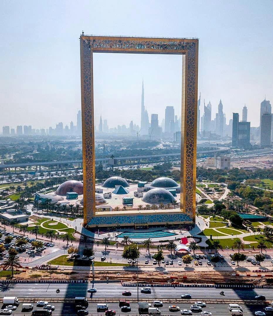 Dubai Frame, UAE | Beauty of UAE in 2019 | Dubai ...