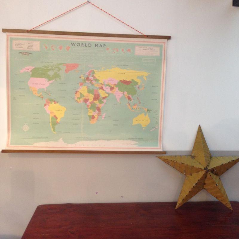 Carte du monde vintage XL | ☆ Posters & Cartes ☆ | Pinterest