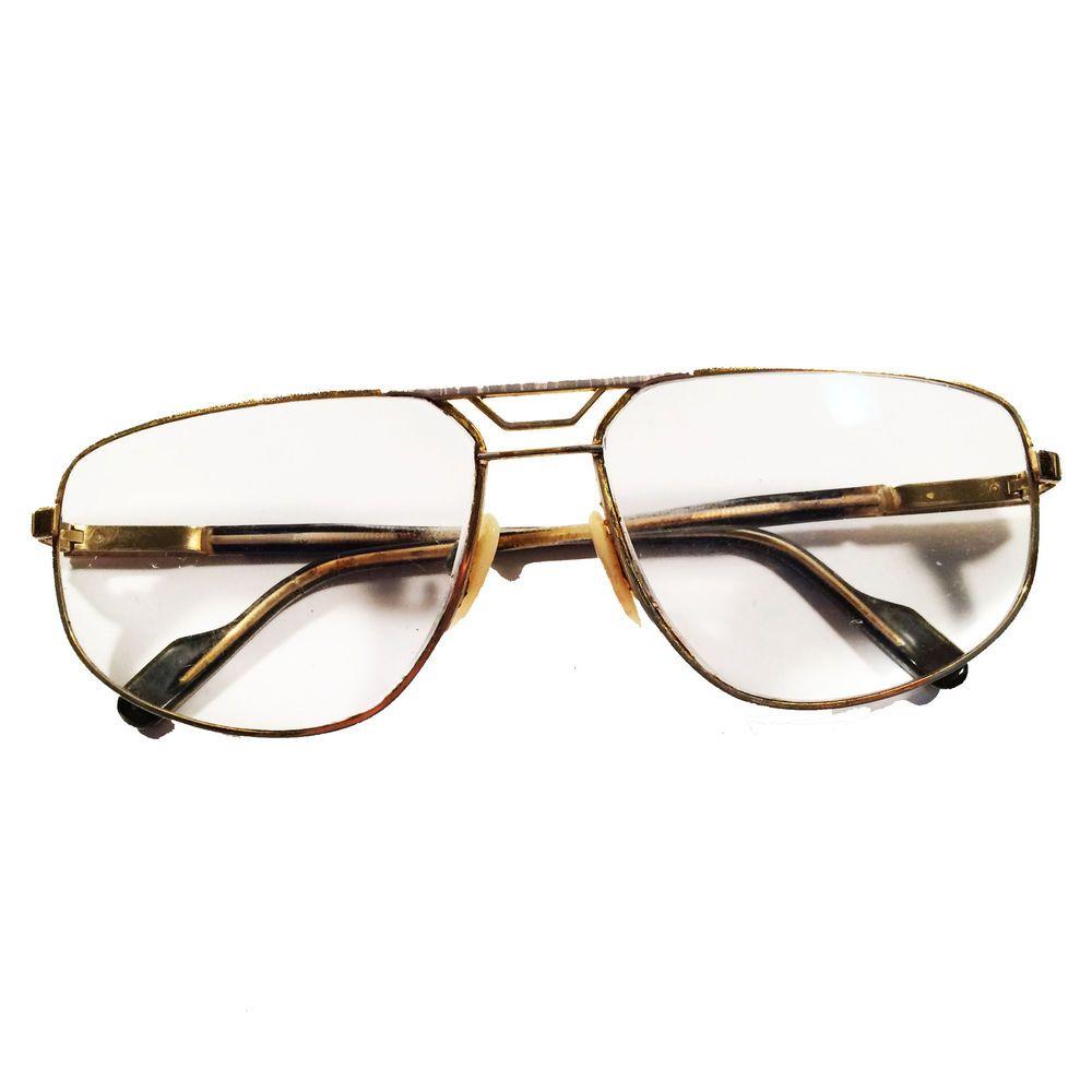 Vtg Alpina Gold Tone & Faux Horn Wire Frame Aviator Eyeglass Frames ...