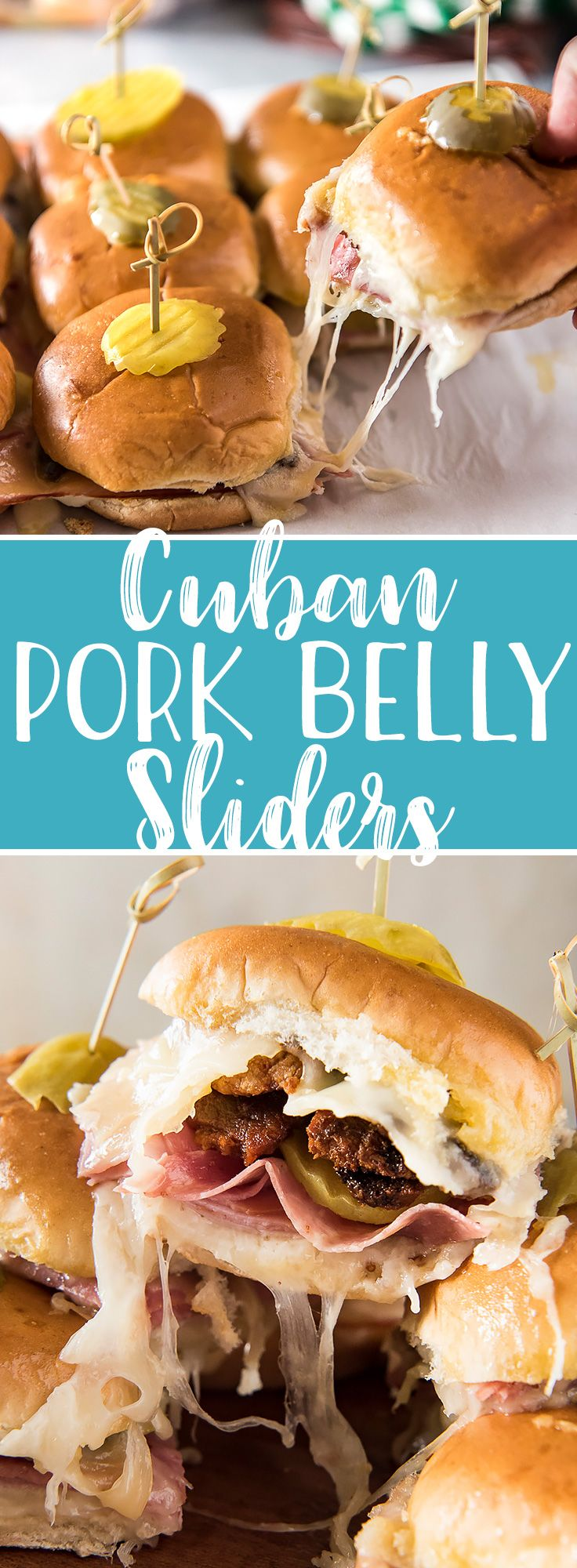 Your whole crowd is going to love theseCuban Pork Belly Sliders! The classic flavor of a Cuban sandwich in a convenient, fun little slider, then elevated with crispy bites of fried pork belly and a healthy dose of garlic butter. #Ad #RespectTheBun #LittleBunsBigWin #BakedWithCare