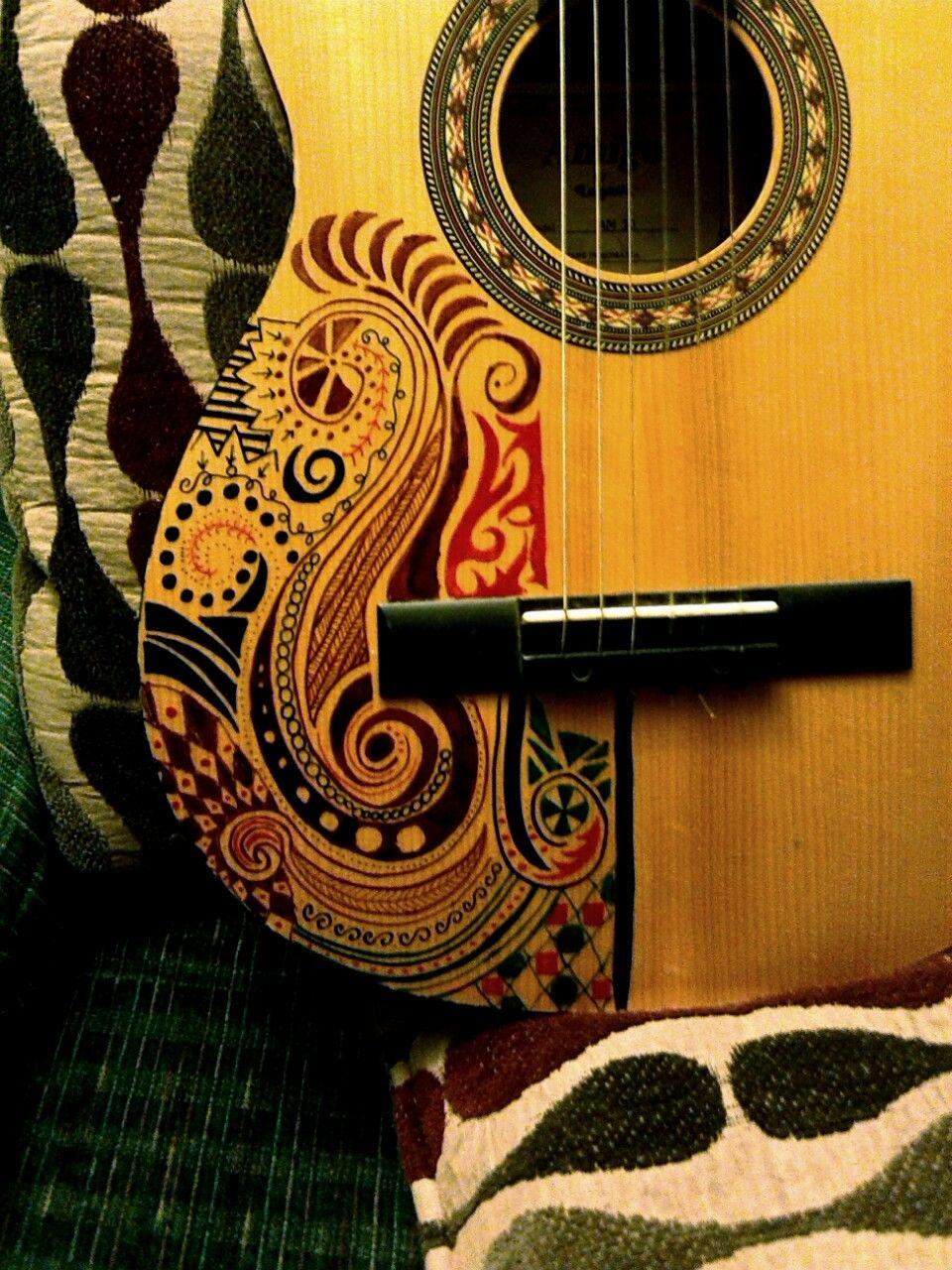 Cheap Old Guitar Sharpie Matte Finish Spray Varnish To