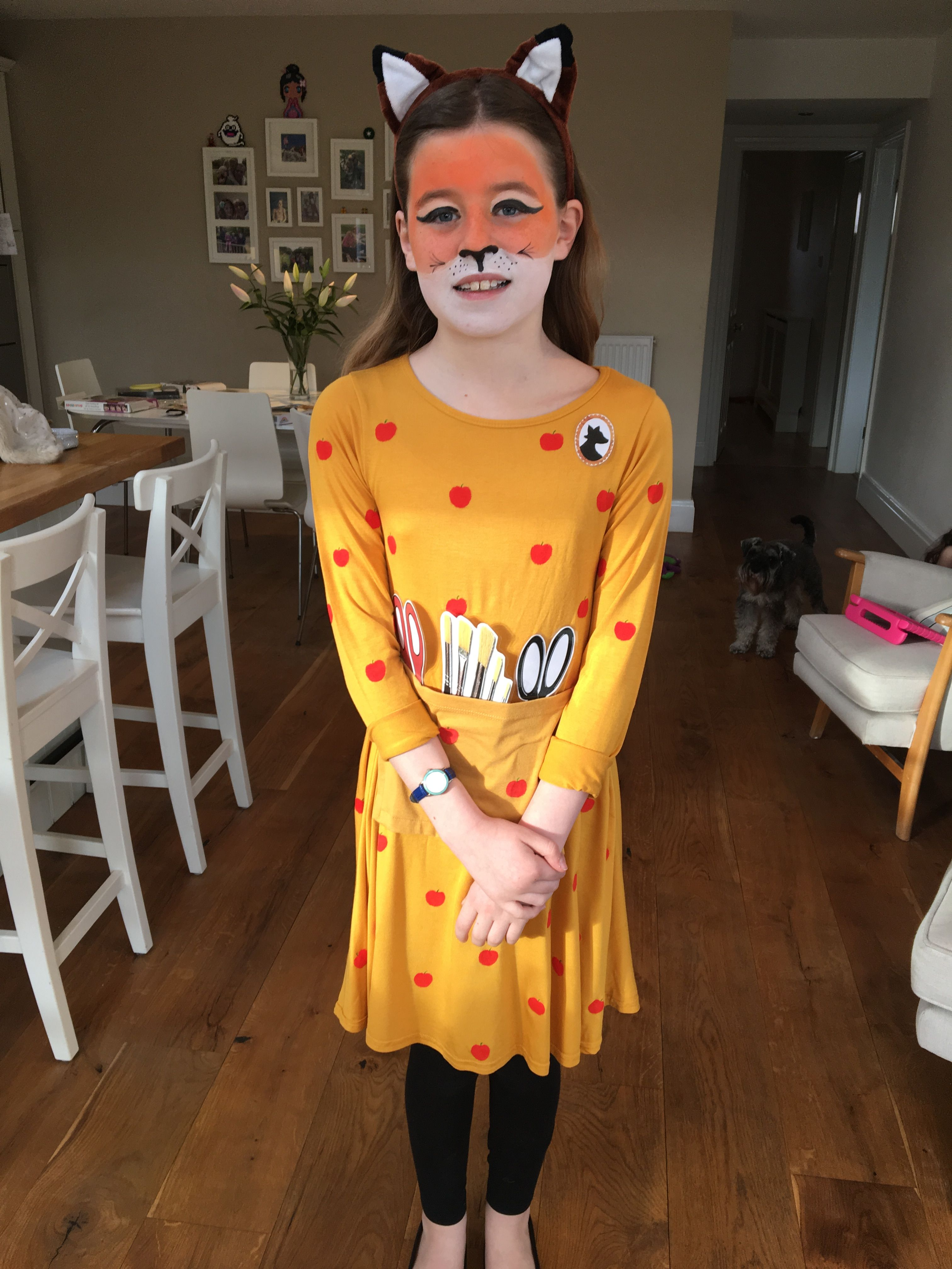Fantastic Mrs Fox Dress Face Paint World Book Day Book Week Costume Book Day Costumes World Book Day Costumes