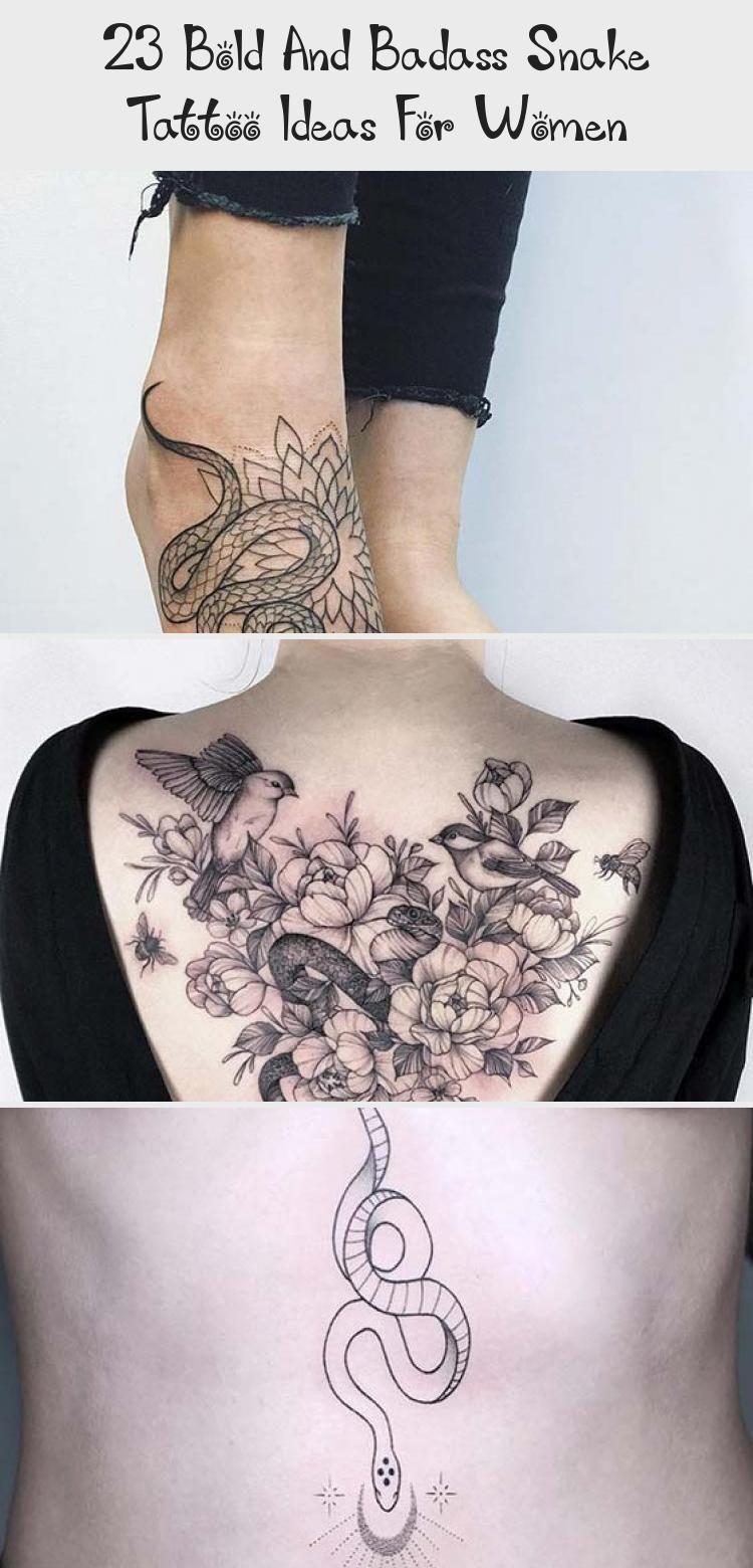 Photo of 23 idées de tatouage de serpent audacieux et badass pour les femmes   StayGlam #FineArtTattoo #Surre …
