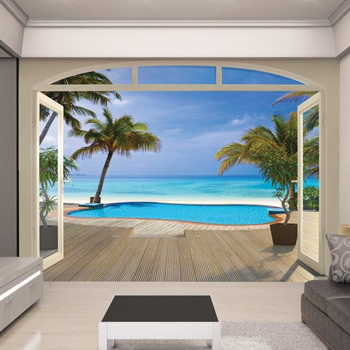 Found It At Wayfair Co Uk View Paradise Beach Wall Mural Beach Wall Murals Wall Murals Ocean Mural