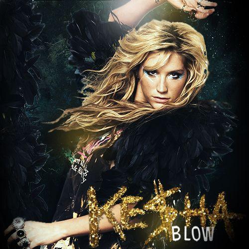 Kesha – Blow (single cover art)