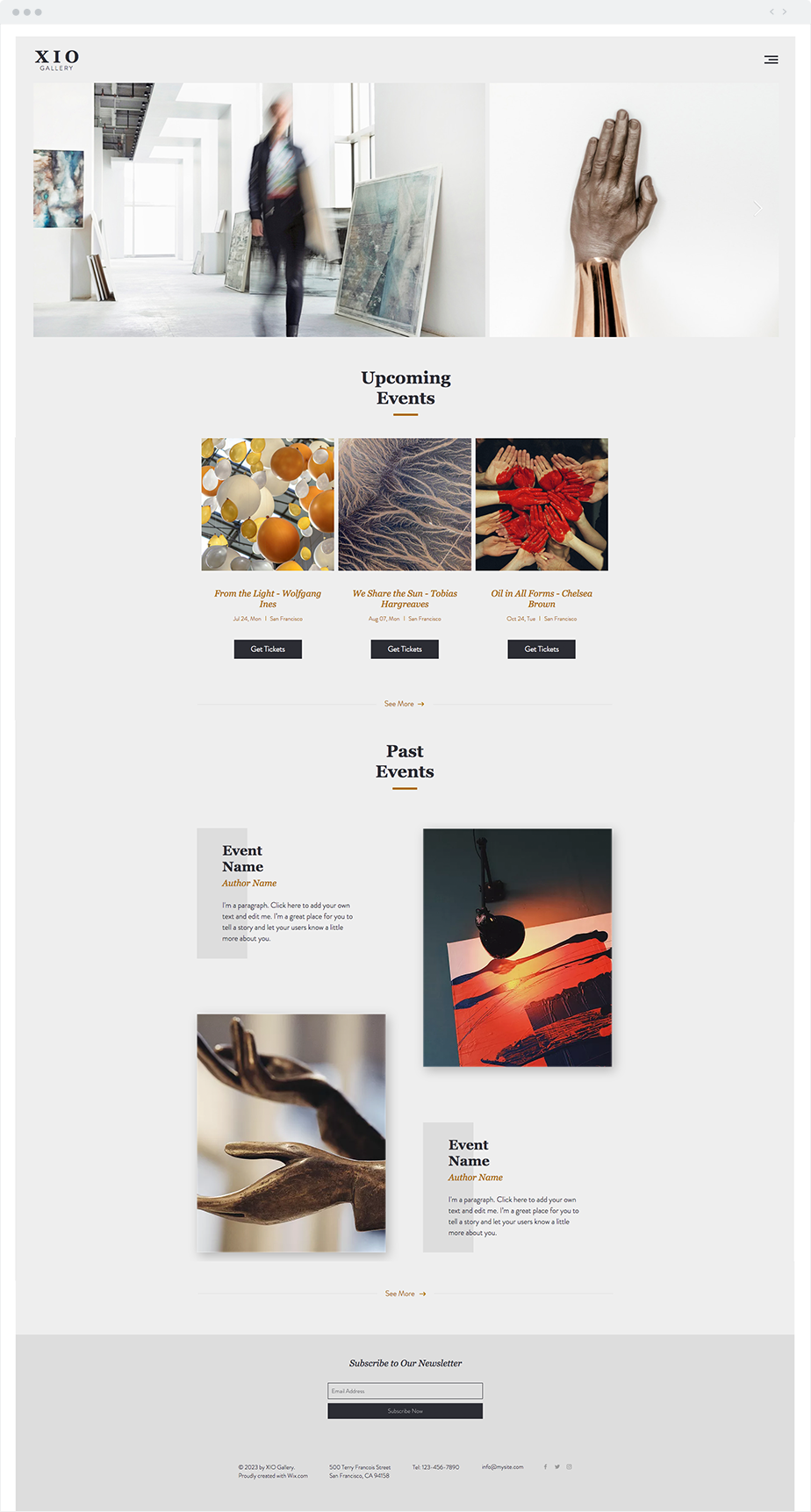 Private Art Gallery Website Template | Wix Website Templates ...