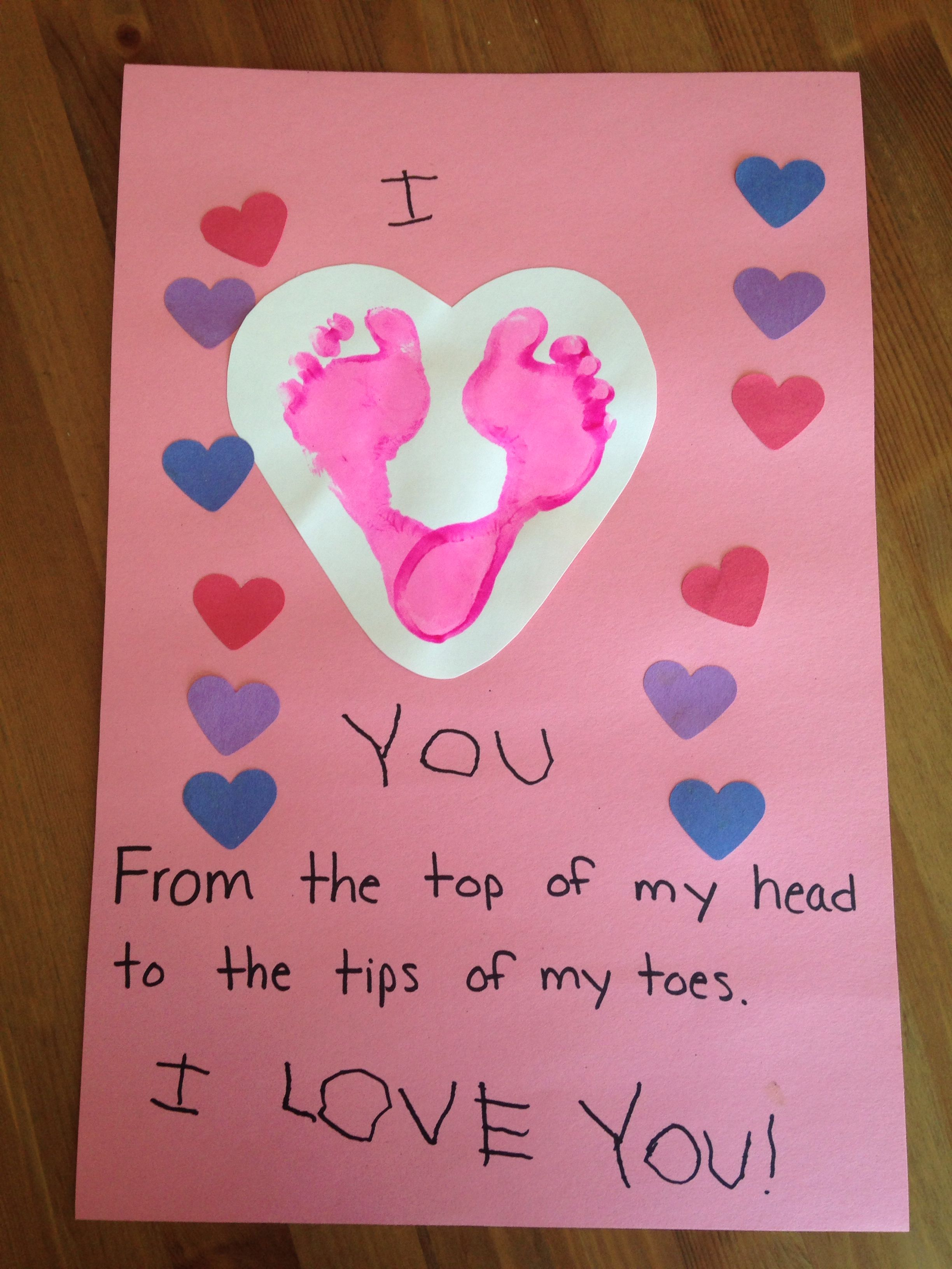 Footprint Craft  Mothers Day Craft  Fathers Day Craft