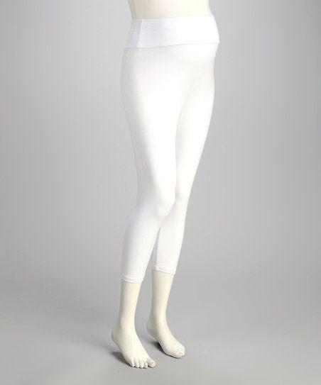 0588b627574b9 White Over-Belly Maternity Capri Leggings   Dress the Bump   Capri ...